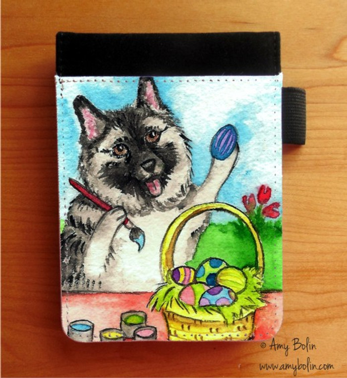 NOTEBOOKS (SEVERAL SIZES AVAILABLE) · EASTER EGG ARTIST · NORWEGIAN ELKHOUND · AMY BOLIN