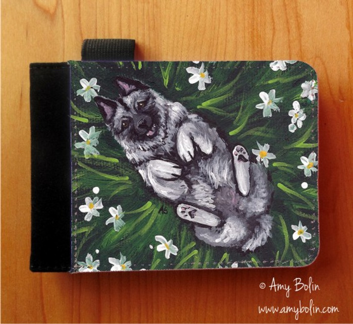 NOTEBOOKS (SEVERAL SIZES AVAILABLE) · HAPPINESS IS A FIELD OF DAISIES · NORWEGIAN ELKHOUND · AMY BOLIN