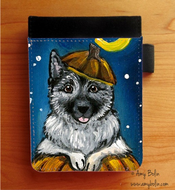 NOTEBOOKS (SEVERAL SIZES AVAILABLE) · HAPPY HOWLOWEEN · NORWEGIAN ELKHOUND · AMY BOLIN
