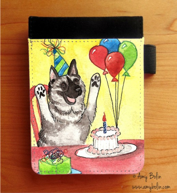 NOTEBOOKS (SEVERAL SIZES AVAILABLE) · IT'S MY PARTY · NORWEGIAN ELKHOUND · AMY BOLIN