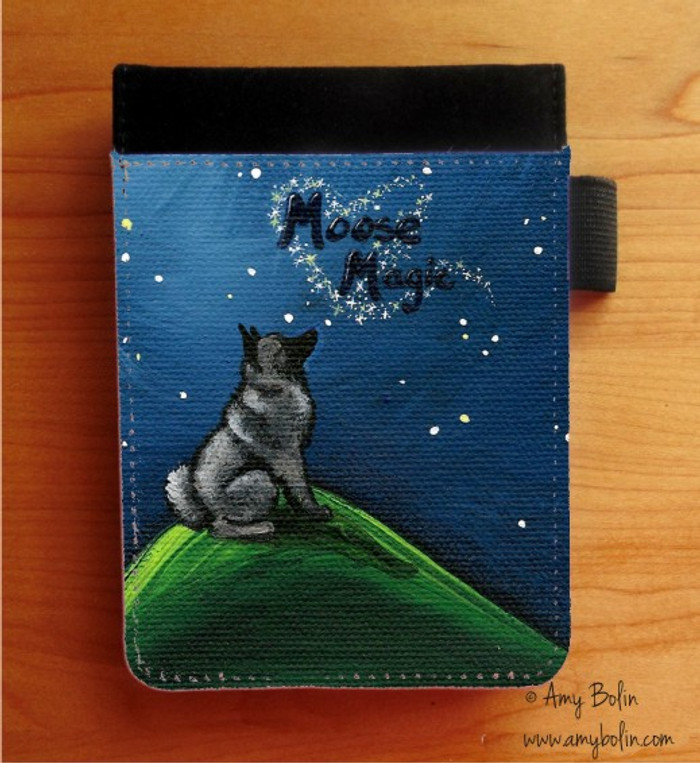 NOTEBOOKS (SEVERAL SIZES AVAILABLE) · MOOSE MAGIC · NORWEGIAN ELKHOUND · AMY BOLIN