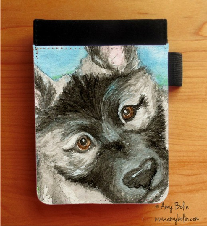 NOTEBOOKS (SEVERAL SIZES AVAILABLE) · PUPPY · NORWEGIAN ELKHOUND · AMY BOLIN