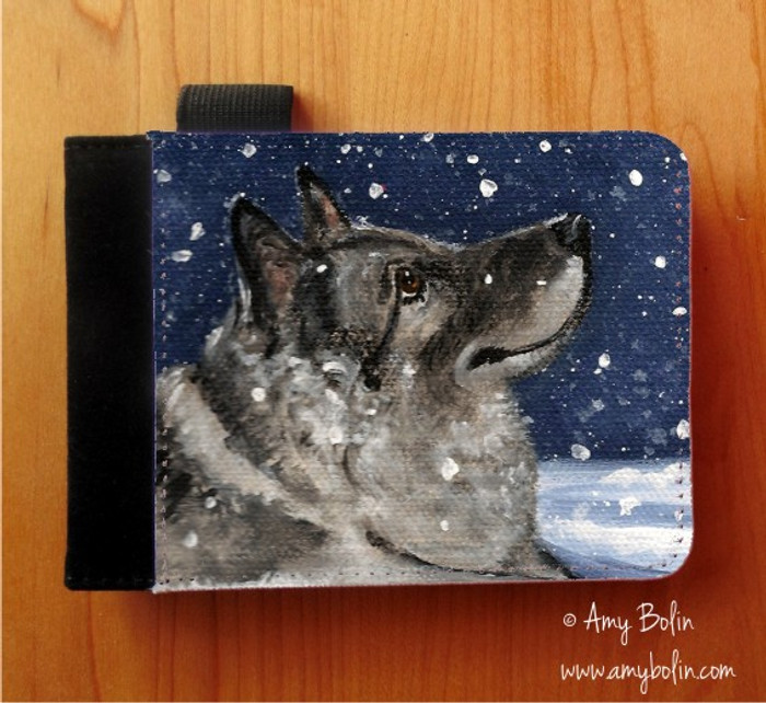 NOTEBOOKS (SEVERAL SIZES AVAILABLE) · SENJA'S SNOW DAY · NORWEGIAN ELKHOUND · AMY BOLIN
