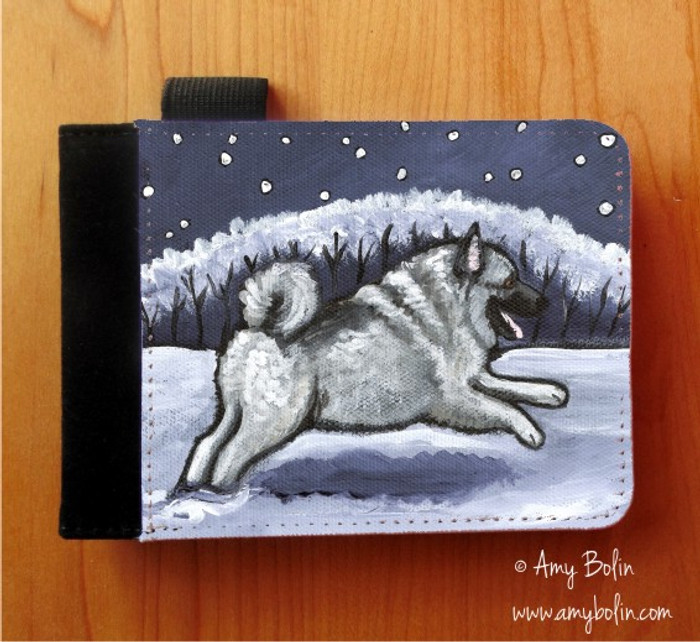 NOTEBOOKS (SEVERAL SIZES AVAILABLE) · WINTER WONDERLAND · NORWEGIAN ELKHOUND · AMY BOLIN