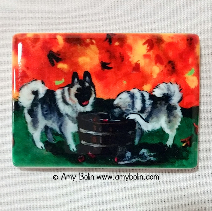 MAGNET · BOBBING FOR APPLES · NORWEGIAN ELKHOUNDS · AMY BOLIN
