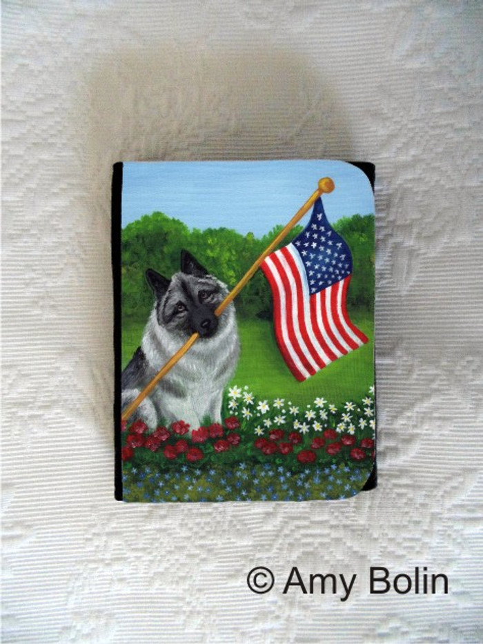 SMALL ORGANIZER WALLET · PROUD TO BE AMERICAN · NORWEGIAN ELKHOUNDS · AMY BOLIN