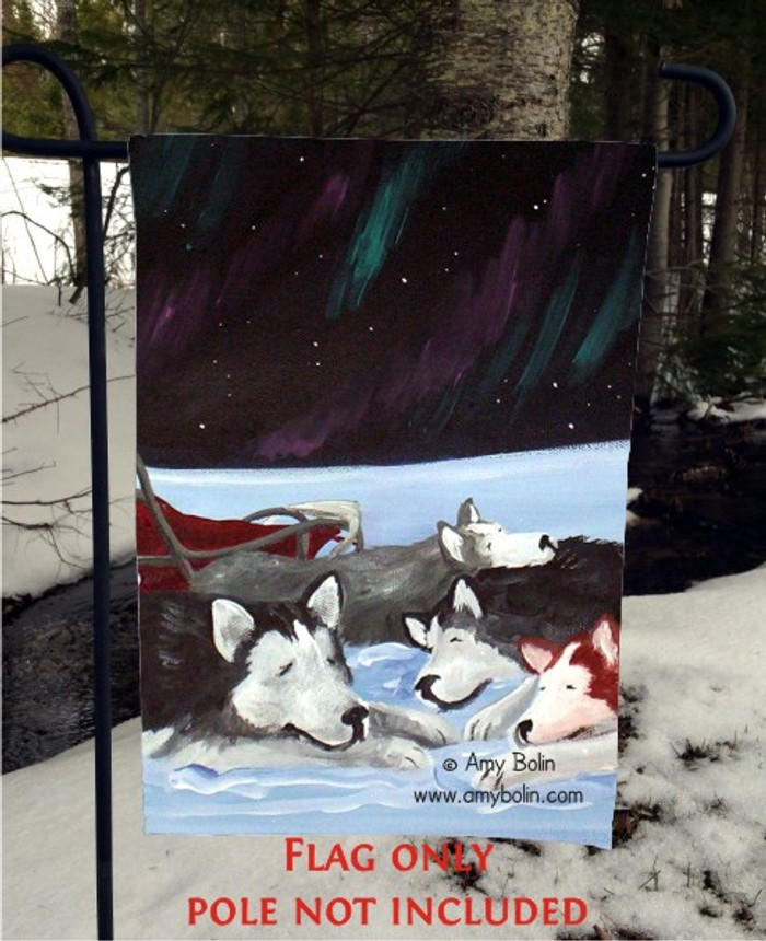 GARDEN FLAG · SWEET DREAMS · ALASKAN MALAMUTE · AMY BOLIN