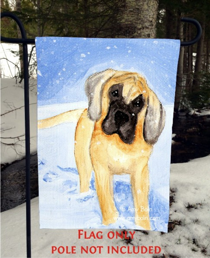 GARDEN FLAG · MY FIRST WINTER · GREAT DANE · AMY BOLIN