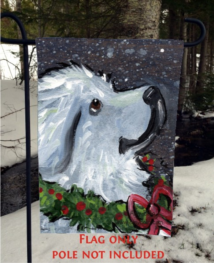 GARDEN FLAG · CHRISTMAS TRADITIONS · GREAT PYRENEES · AMY BOLIN
