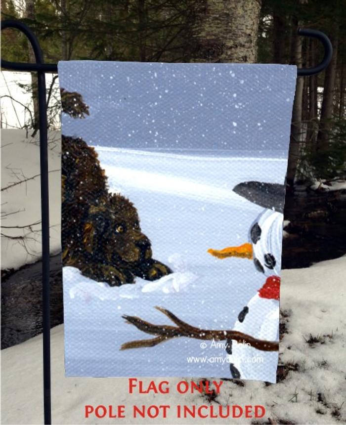 GARDEN FLAG · MY SNOWY FRIEND · BROWN NEWFOUNDLAND · AMY BOLIN