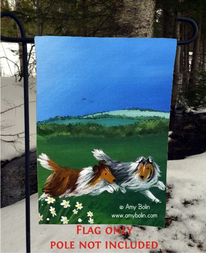 GARDEN FLAG · FOUR SEASONS · SHELTIE SUMMER · AMY BOLIN