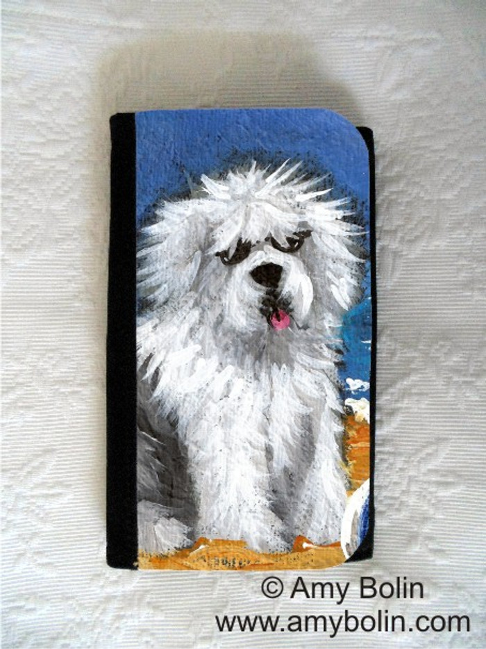 LARGE ORGANIZER WALLET · BEACH BUM · OLD ENGLISH SHEEPDOG · AMY BOLIN