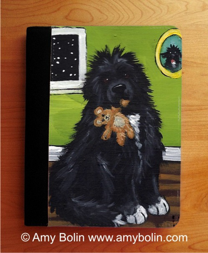 NOTEBOOKS (SEVERAL SIZES AVAILABLE) · BEDTIME BUDDIES · IRISH SPOTTED NEWFOUNDLAND · AMY BOLIN