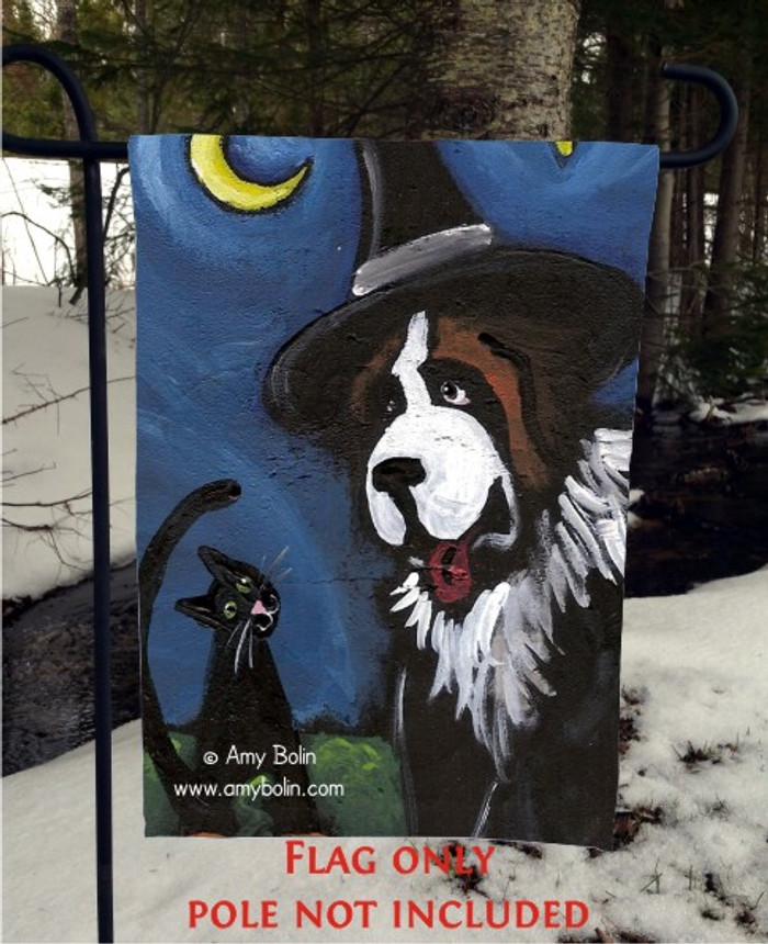 GARDEN FLAG · HAPPY HALLOWEEN 2 · SAINT BERNARD · AMY BOLIN