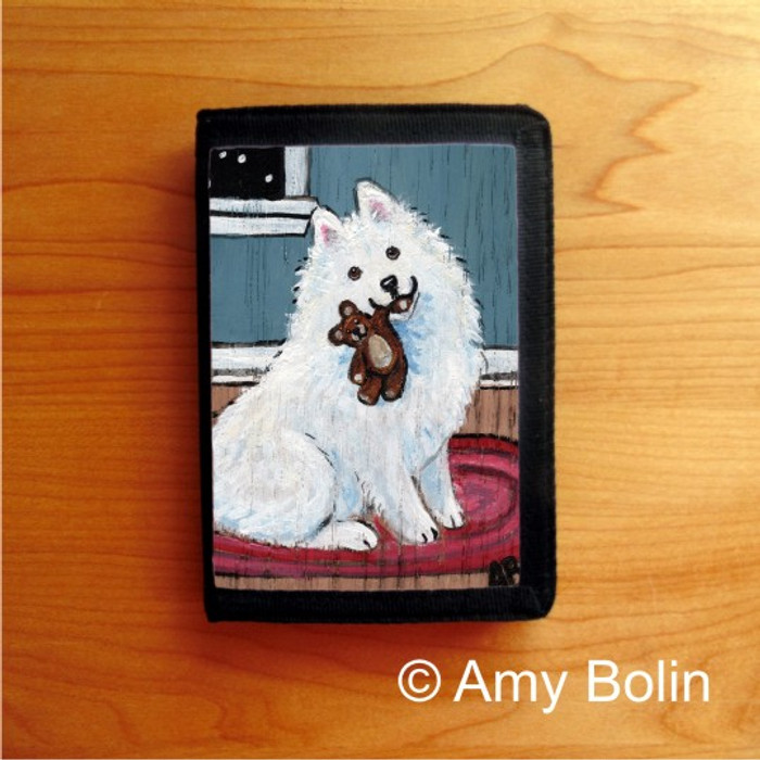 TRIFOLD WALLET · BEDTIME BUDDIES · SAMOYED · AMY BOLIN