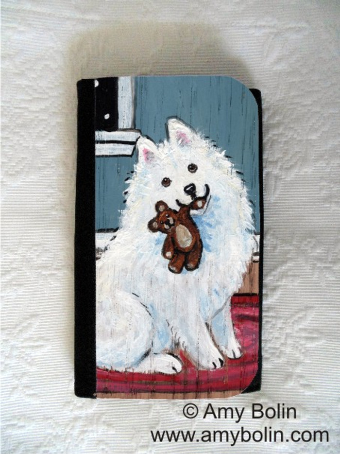 LARGE ORGANIZER WALLET · BEDTIME BUDDIES · SAMOYED · AMY BOLIN