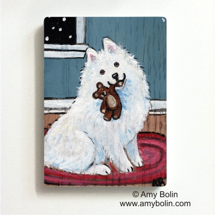 MAGNET · BEDTIME BUDDIES · SAMOYED · AMY BOLIN