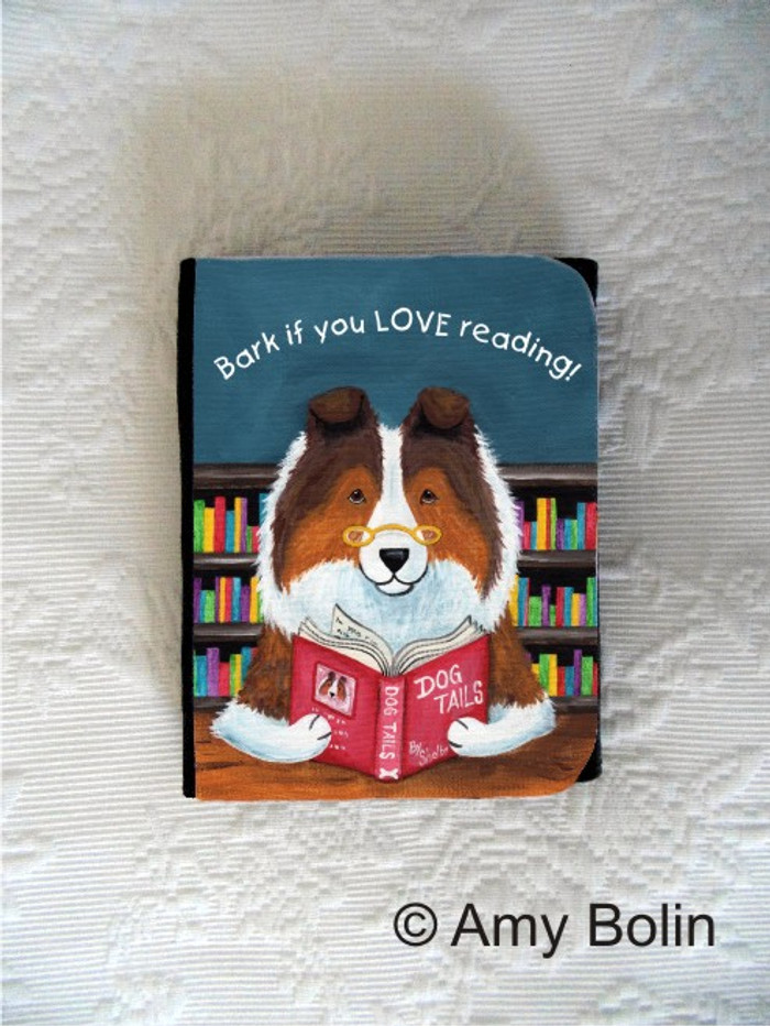 SMALL ORGANIZER WALLET · DOG TAILS VOL 3 · SABLE SHELTIE · AMY BOLIN