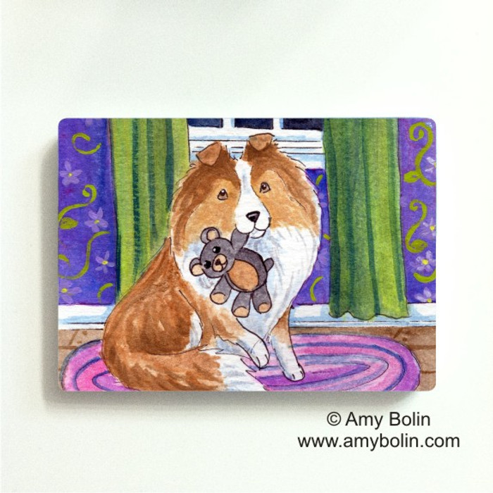 MAGNET · BEDTIME BUDDIES · SABLE SHELTIE · AMY BOLIN