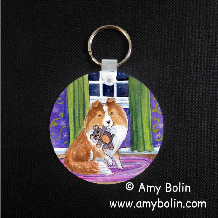 KEY CHAIN · BEDTIME BUDDIES · SABLE SHELTIE · AMY BOLIN
