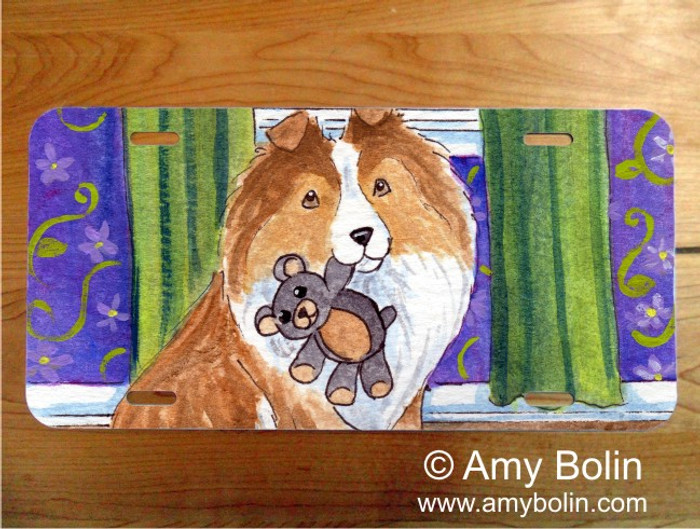 LICENSE PLATE · BEDTIME BUDDIES · SABLE SHELTIE · AMY BOLIN
