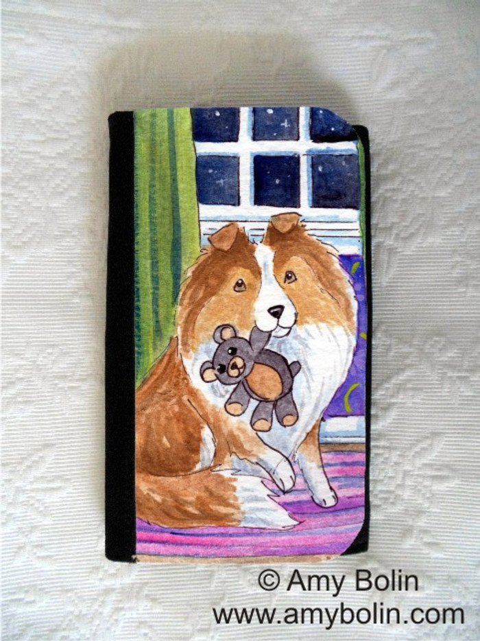 LARGE ORGANIZER WALLET · BEDTIME BUDDIES · SABLE SHELTIE · AMY BOLIN