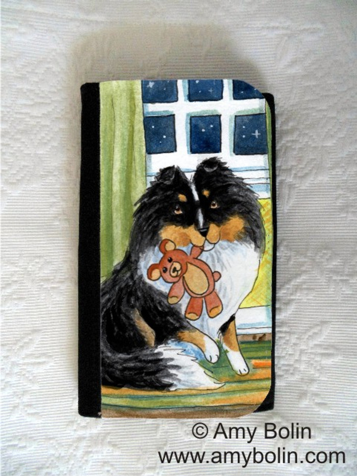LARGE ORGANIZER WALLET · BEDTIME BUDDIES · TRI COLOR SHELTIE · AMY BOLIN