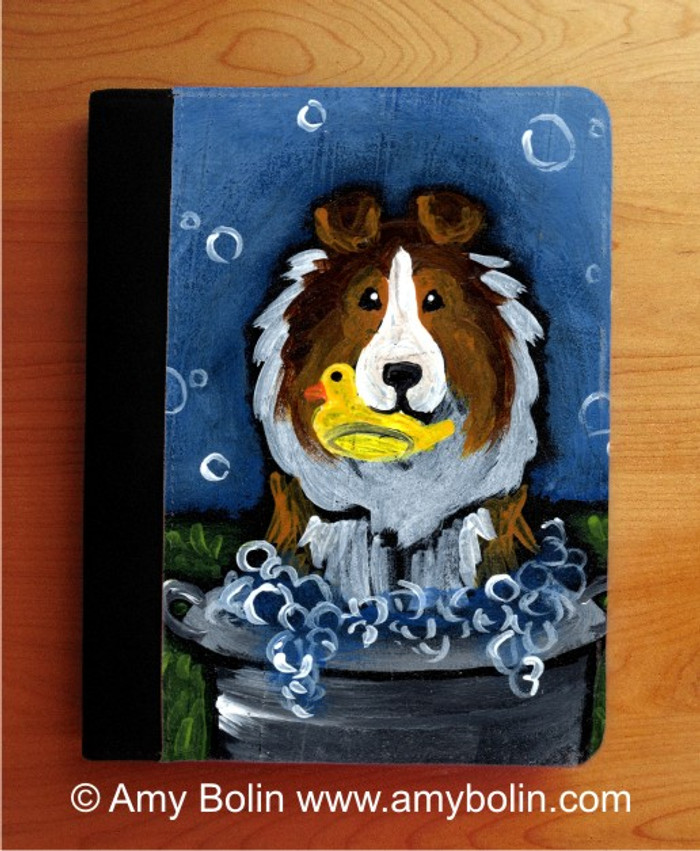 NOTEBOOKS (SEVERAL SIZES AVAILABLE) · THE WASH TUB · SABLE SHELTIE · AMY BOLIN