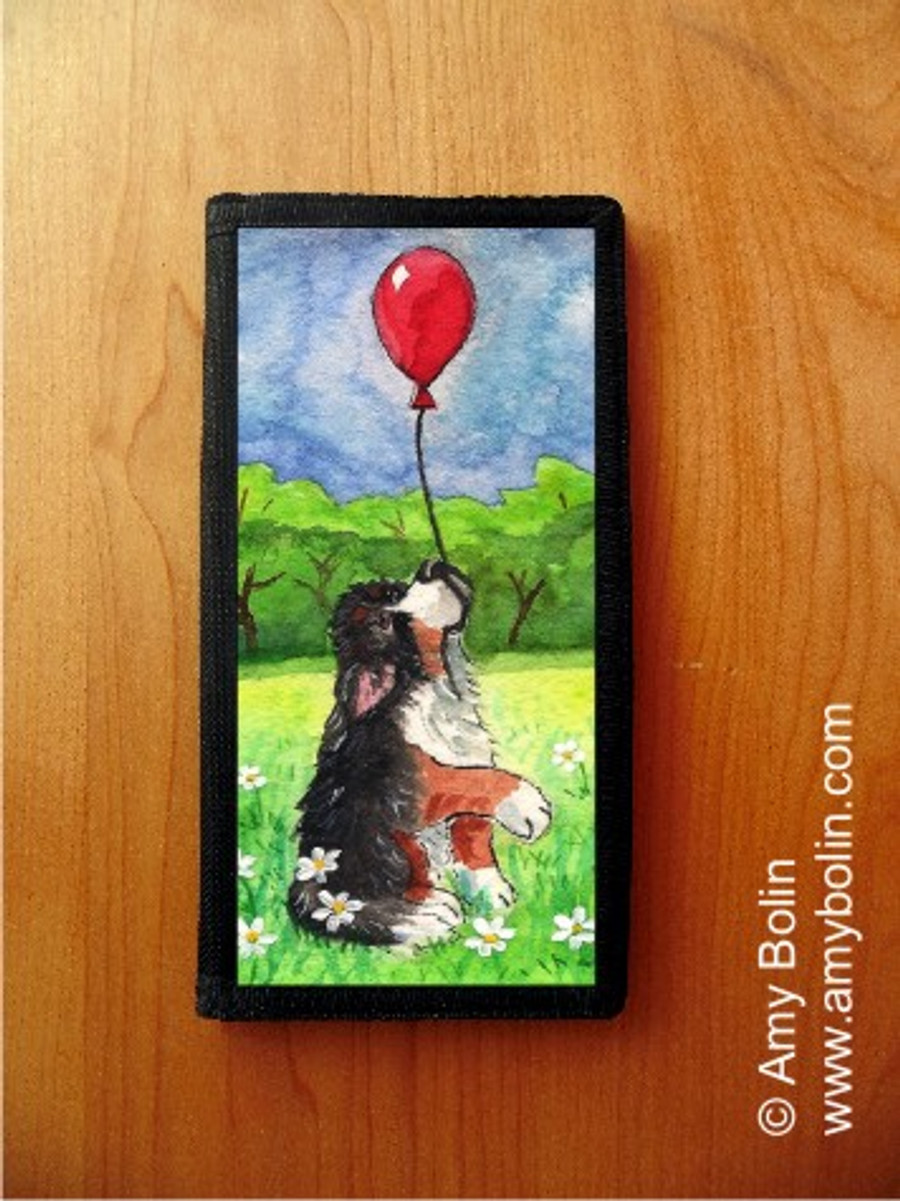 CHECKBOOK COVER · FLY AWAY · BERNESE MOUNTAIN DOG · AMY BOLIN