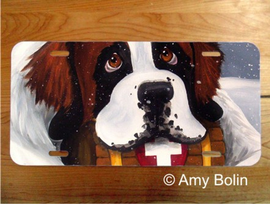 LICENSE PLATE · BREAK TIME ·  SAINT BERNARD · AMY BOLIN