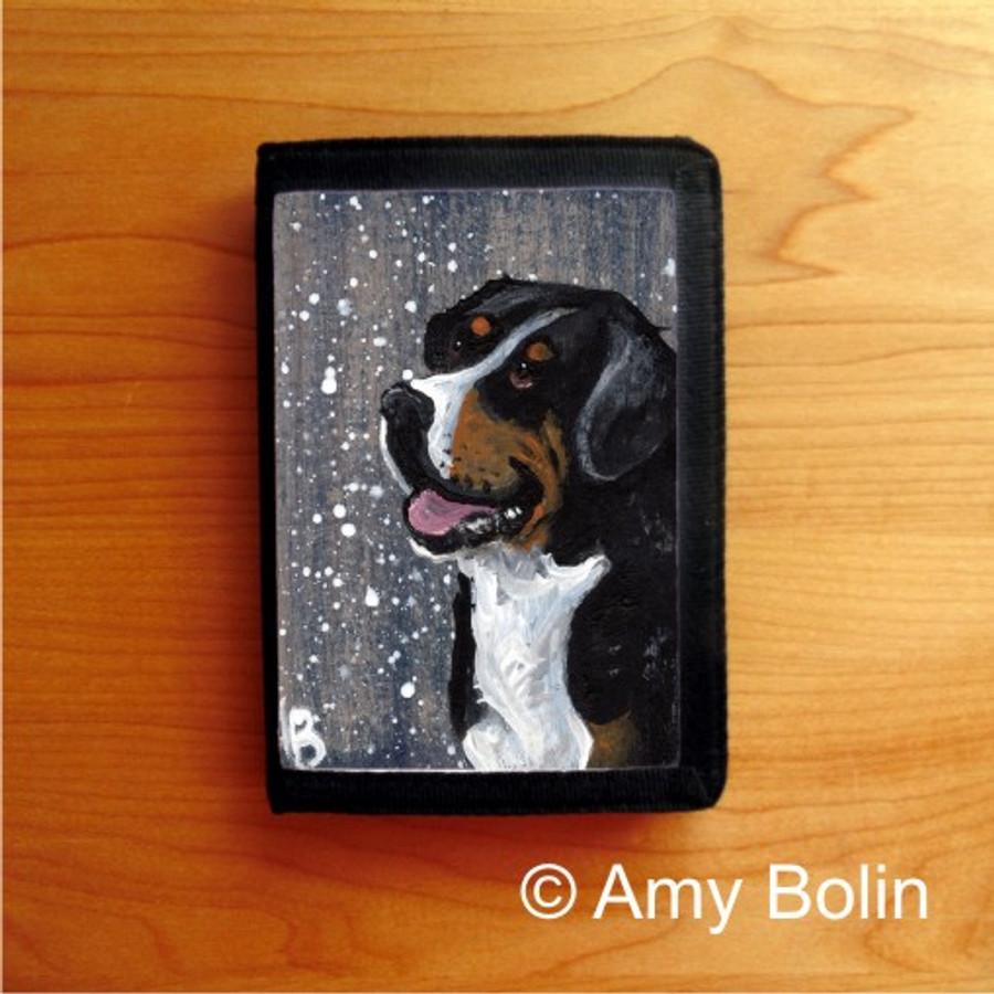 TRIFOLD WALLET · SWISSY · GREATER SWISS MOUNTAIN DOG · AMY BOLIN