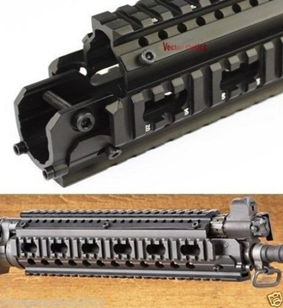 OMEGA MFG Tactical Handguard Picatinny Quad Rail - For Fn and Many Other MFG