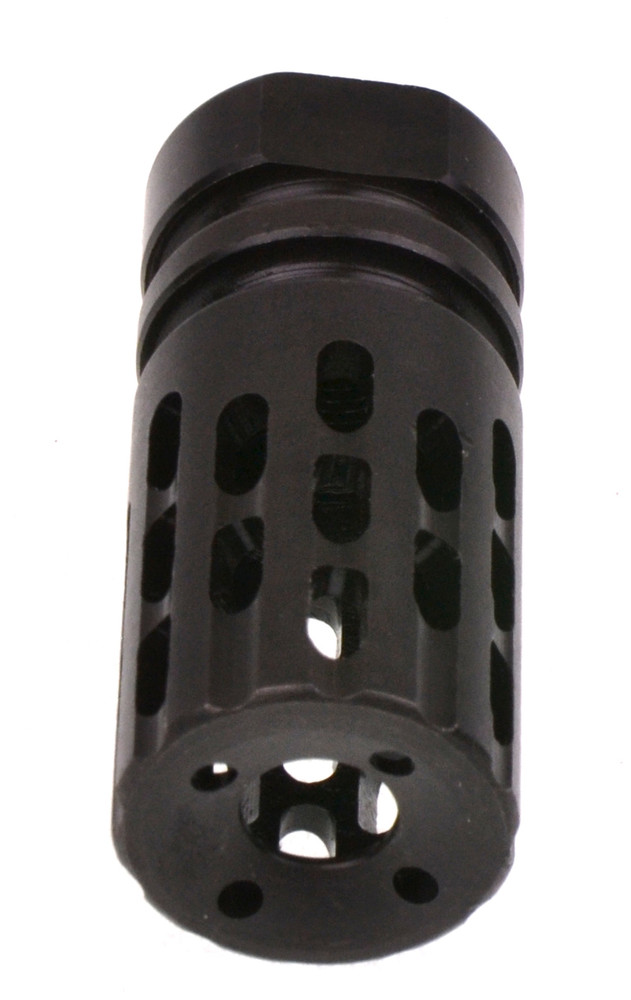 Recoil Technologies Extreme Comp & Flash Hider 13-Ported Helical Muzzle Brake Black 1/2x28 TPI