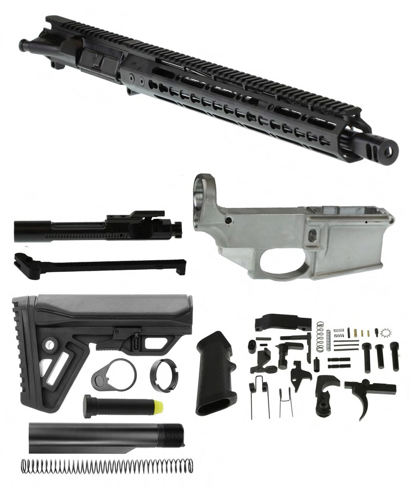 "Davidson Defense Ar-15 ""Fire Sword"" Deluxe Complete Rifle Kit 16"" 5.56 NATO QPQ Nitride M4 1:9T Barrel 15"" KeyMod Handguard & Nitride BCG **Includes Every Part Needed To Build A 100% Complete Rifle Even A 80% Lower Receiver**"