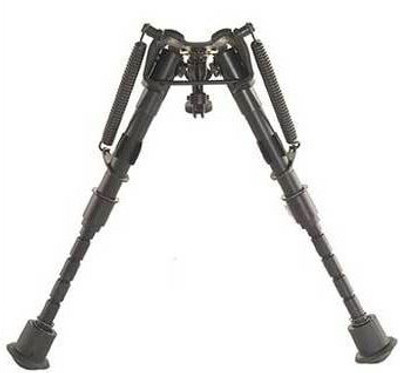 "Precision Spring Retractable Leg Bipod 6""-9"""