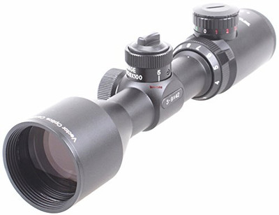 TAC Vector Optics Cerato 3-9x42 Compact .223 BDC Rifle Scope Mil-dot Reticle Telescopic Sight with Flip-up Caps Mount Rings Color Black