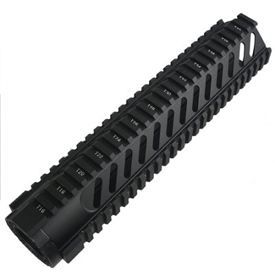 "AR-15 10"" Mid-Length Free Float Rail System With Diagonal Slots"
