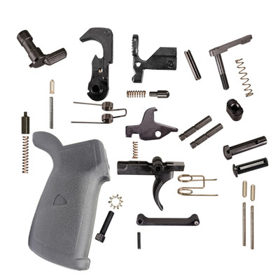 NEW AR-15 Premium USA Made Lower Parts Kit Upgraded With Rubberized Overmoulded Grip