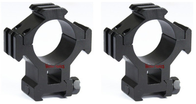 TAC Vector Optics Tactical 35mm Tri Rail Riflescope See through High Weaver Mount Ring