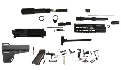 "Davidson Defense DIY 5.56 Ar15  7.5"" Pistol Builder Kit, Everything but the Lower and BCG!  V2"