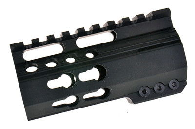 "Omega Mfg Inc  4.2"" Super Ultra Slim Keymod AR 15 Handguard Rail, Steel Barrel Nut"