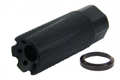 "Recoil Technologies 9mm 1/2""-36 TPI Linear Muzzle Brake Nitride"