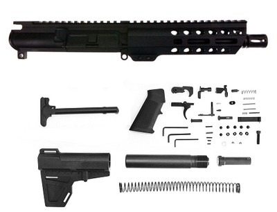 "Davidson Defense 9mm AR-15 Complete Pistol Upper Kit 7.5"" Barrel Nitride Finish 7"" M-Lok Handguard (Every Thing Except Lower & Bcg)"