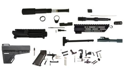 "Davidson Defense DIY 5.56 AR-15  7.5"" Pistol Builder Kit, Everything but the Lower - Includes BCG!"