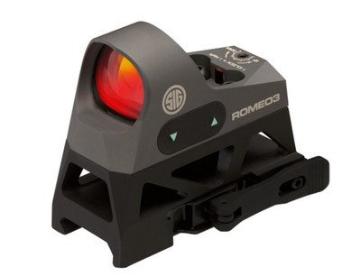 Sig Sauer Romeo 3  Reflex Sight With Riser 1x25mm 3 MOA Red Dot Reticle Graphite