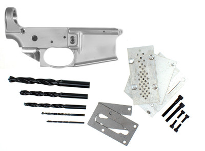 Noreen Firearms AR-15 80% Lower Receiver w/ Trigger Guard and Anderson 80% Jig Kit Combo