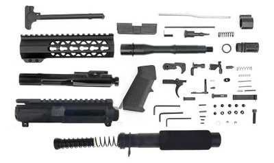 "Davidson Defense Complete Pistol Kit Featuring 7.5"" 5.56/.223 Nitride Finish 1-7 Twist & 7"" Light  Keymod Handguard Comes W/ Everything But The Lower"