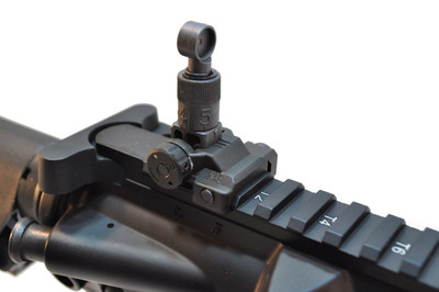Genuine knights Armament Folding Micro Rear Sight, 200-600 Meter Adjustable - Used Like New Condition