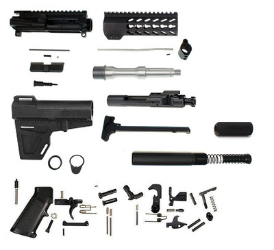 "Davidson Defense AR-15 7.5"" 5.56 / .223 Complete Builder Pistol Kit W/ Lakota Ops Pistol Stabilizer & Nitride BCG  **Includes Everything Except Lower**"