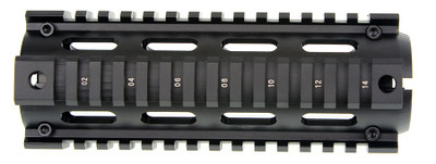 "Trinity Force AR-15 M4 Carbine Length 6.5"" Quad Rail Handguard - black"